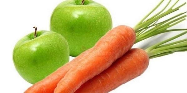 Яблоко и морковь