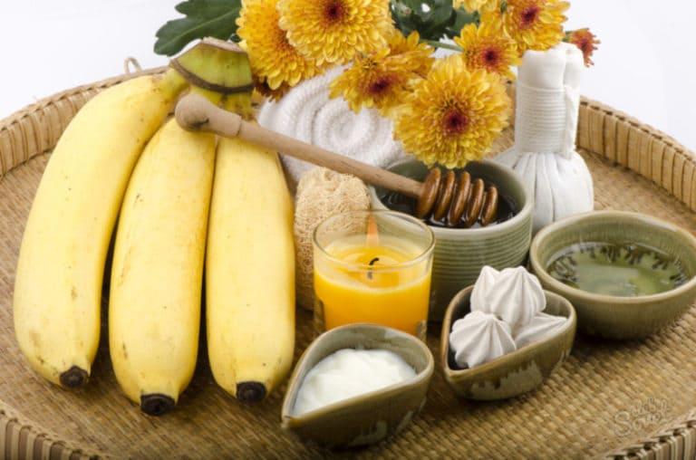 Приготовление масок из банана