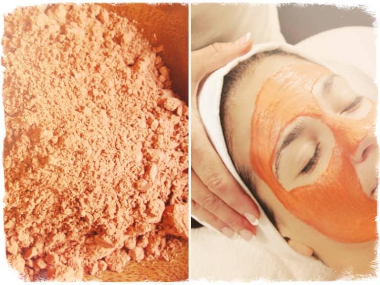 Красная глина для кожи лица